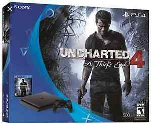 Ps4 uncharted 4 slim 500gb