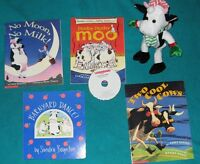 Cow Book Collection for the Primary/Junior Reader and stuffie