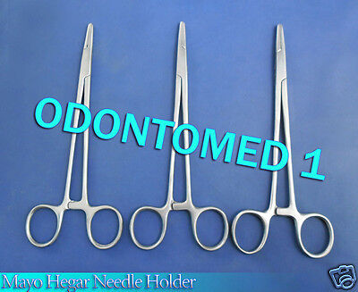 3 Mayo Hegar Needle Holder 6  Surgical Dental Instruments