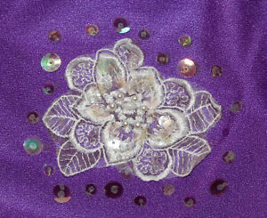 Purple body suit with sequin motif Kitchener / Waterloo Kitchener Area image 2