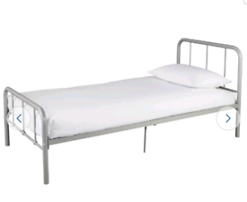 Brand new silver single bed frame
