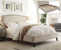 MIKE'S GOT THESE GORGEOUS UPHOLSTERED PLATFORM BEDS-2 COLOURS