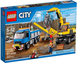 LEGO CITY, CONSTRUCTION: Excavator and Truck #60075