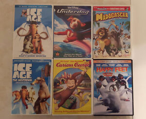Collection of 6 childen's DVDs