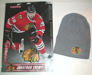 Chicago Blackhawks Toque and Jonathan Toews Fathead Wall Decal London Ontario image 1