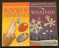 USBORNE SPOTTER'S GUIDES, BOOKS, ROCKS & MINERALS, WEATHER