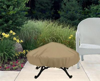 Fire Pit Patio Furniture Cover | Waterproof Outdoor Protection | Round 48