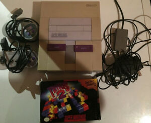 Super Nintendo with all hookups Tetris 2,Top Gear 3000 in box