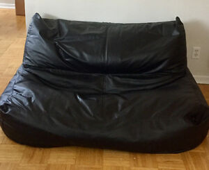 LARGE BLACK BEAN BAG COUCH FOR SALE!