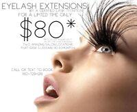 Eyelash Extensions $80