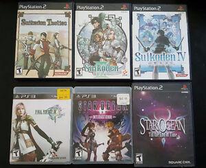 PS2/PS3 RPG! Suikoden, Star Ocean, Final Fantasy!