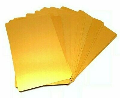 100 Gold Aluminum Business Card Blanks Laser Metal Sheets Engraving Anodized