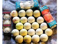 30 old golf balls no idea good bad or indifferent, varied brands
