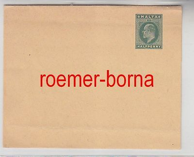 75390 seltener Ganzsachen Brief Malta 1/2 Penny um 1900