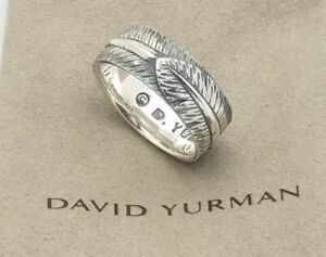 Authentic David Yurman Frontier Collection Feather Ring - Men's