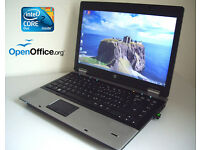 "Deliver if needed - HP Compaq 15.4"" Laptop with Intel Core2Duo 4.4Ghz, 3Gb Ram, WiFi, DVD-RW"