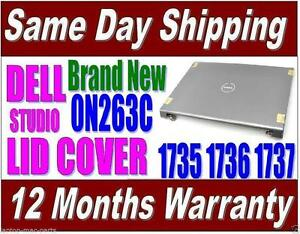 Dell Studio 1735 1736 1737 LID Cover Gray Hinges WIFI Port Brand NEW