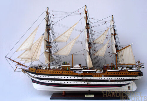 "Amerigo Vespucci Ship Model 37"" Full Assembled Ready for Display"