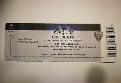 R2 TICKET MSK ZILINA  - CHELSEA FC CHAMPIONS LEAGUE 15/09/2010 SLOVAKIA