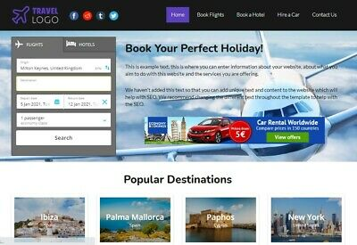Tptravel - Travel Comparison Php Script - Easy To Edit No Database Required