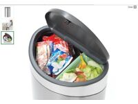 Brabantia stylish kitchen bin with separate section for green waste