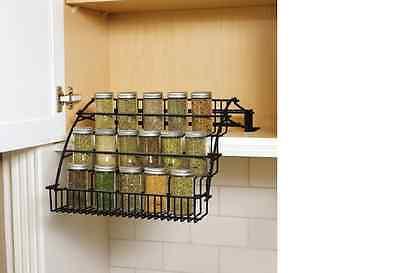 New 3-Tier Kitchen In-Cabinet Wire Pull-Down Black Spice Rack Storage Organizer