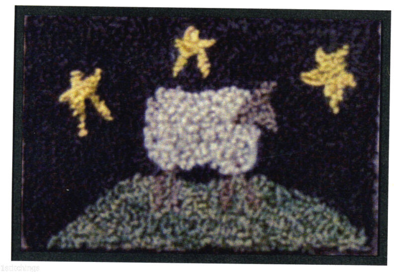 Sheep in the Meadow Punchneedle Embroidery Pattern Punch Needle