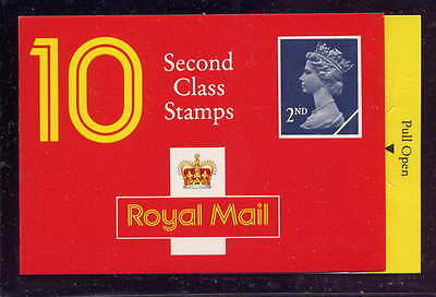 GB 1990 10 x 2nd CLASS STAMPS BARCODE BOOKLET HC5