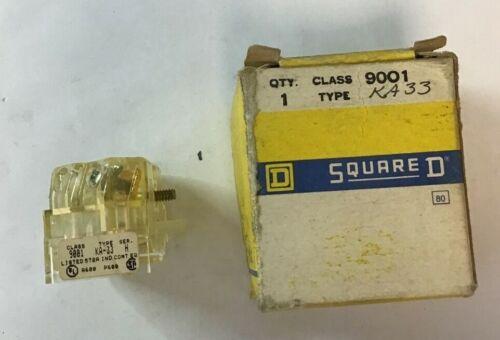 SQUARE D 9001 KA33 CONTACT BLOCK SER.H