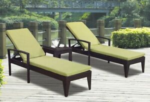 Chaise loungers set 2 chair 1 table