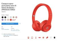 Beats Solo 3 wireless headphones - Red Special Edition - BRAND NEW