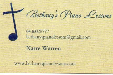 Bethany's Piano Lessons and Accompaniment Practice