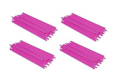 Pink Lollipop Sticks (PINK - Plastic Lollipop Sticks - Food Safe - lollies, Sweets, Crafts)