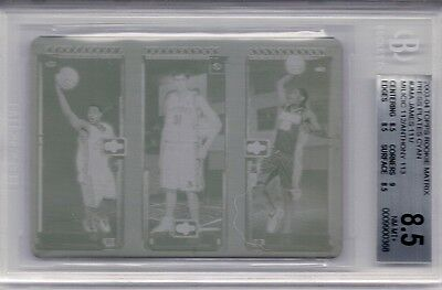 Future Hof 2003 Topps Matrix Lebron James Carmelo Anthony 1 1 Printing Plate Rc