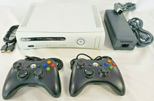 2 CONTROLLERS Bundle Microsoft XBOX 360 PRO Game Console Gaming System 4GB HDMI