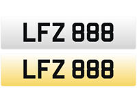 LFZ 888 – Price Includes All DVLA Fees – Cherished Personal Private Registration Number Plate