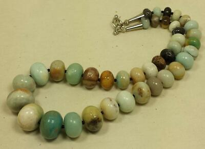 Gradual size Amazonite abacus shape bead necklace//10mm-20mm (z142-w4.5)
