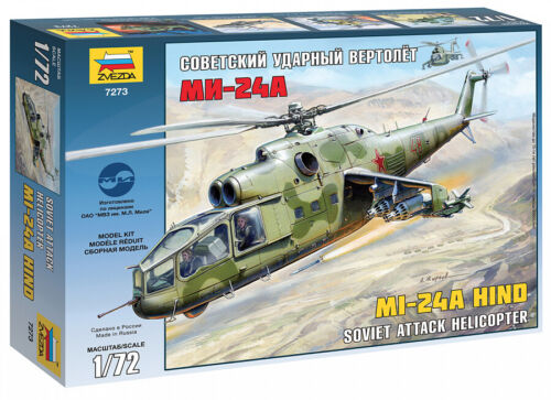 Zvezda 7273 Soviet Mi-24A attack helicopter Plastic Toy Model Kit Scale 1/72