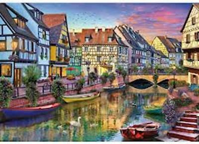 WENTWORTH WOODEN JIGSAW PUZZLE - COLMAR CANAL 250 PIECES