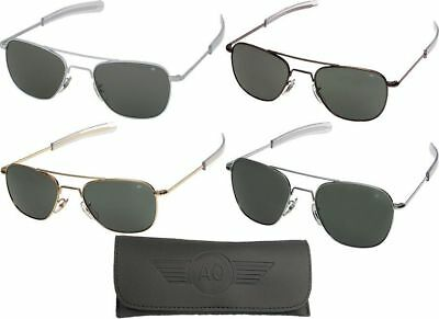 AO Eyewear Aviator Sunglasses Air Force Style Grey Lenses With (Air Force Style Sunglasses)