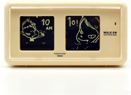 Yoshitomo Nara Patter Clock [WALK ON (Beige)] in Original Box japan