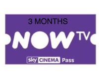 Now tv pass 3 month
