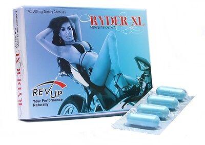 4 X Ryder Xl Male Enhancement Pill Hard Long Erections Sexual Enhancer
