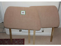 2 x Beige Padded Single Bed Headboards