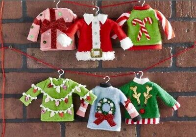 Ugly Christmas Sweater Ornaments (5