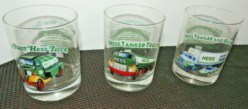 1996 Glass Cup Classic Truck Series Set of 3 glasses