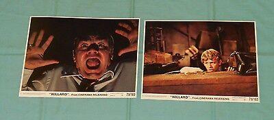 original 1971 WILLARD PRESS PHOTO or LOBBY CARD LOT x2 (set B)