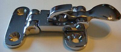 200- Anti Rattler DOOR FASTENER Chrome BRASS NOS holder NEW Wholesale LOT