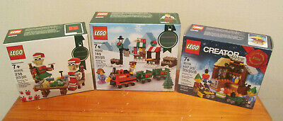 3 Brand New LEGO Elf Toy Workshop Train Sets 40106 40262 40205 Sealed Unopened