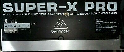 ***Behringer Super-X Pro CX2310 2/3 way Crossover with subwoofer output segunda mano  Embacar hacia Mexico